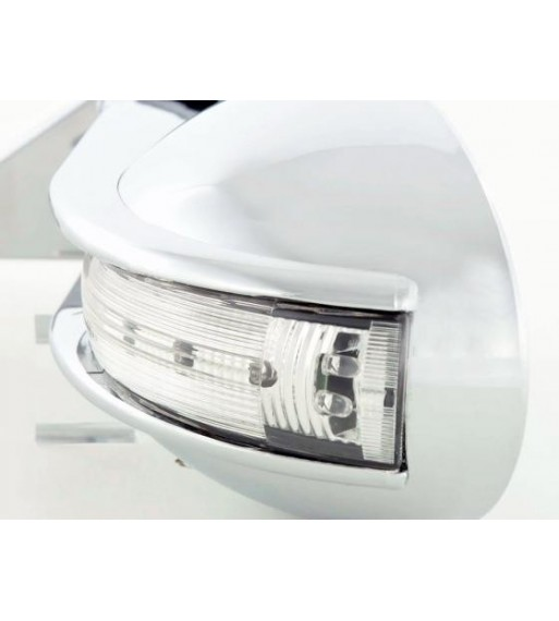 Black Headlights Covers with LED DRL Chrome Daytime Running Lights Mercedes Benz G-Class W463 (1989-up) G65 AMG Design Black